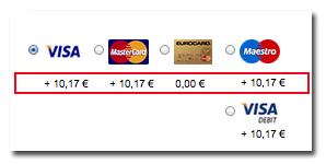Kreditkartengebuehr