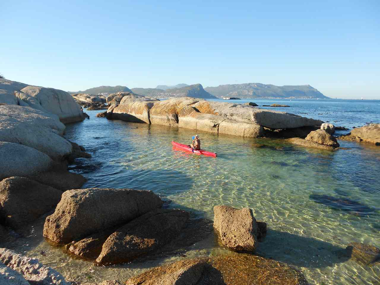 Kajak Simons Town False Bay